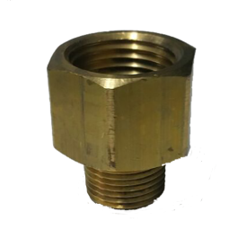 "Adaptor Brass 1/2"" Female x 3/8"" Male"