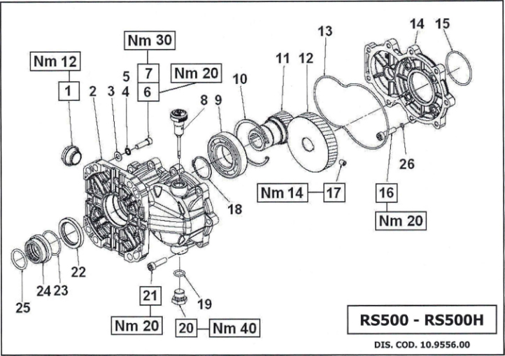 Marvelous Rs500 Interpump Gearbox Interpump Exploded Drawings Wiring Cloud Hisonuggs Outletorg